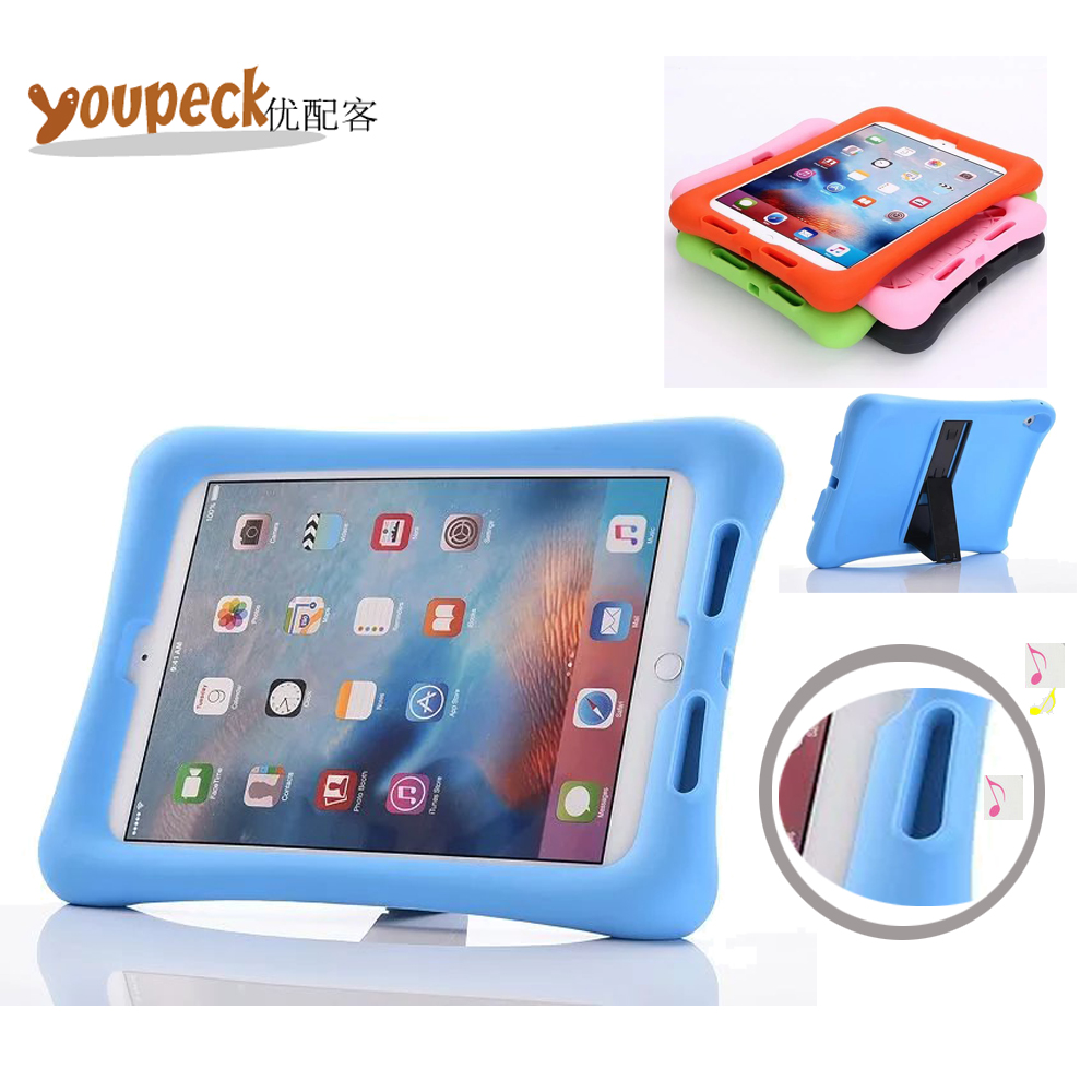 ShockProof Silicone Case for Apple iPad Pro 9.7'' Light Weight Kids Rugged Corner Bumper Cover w/ Audio Amplifier Design