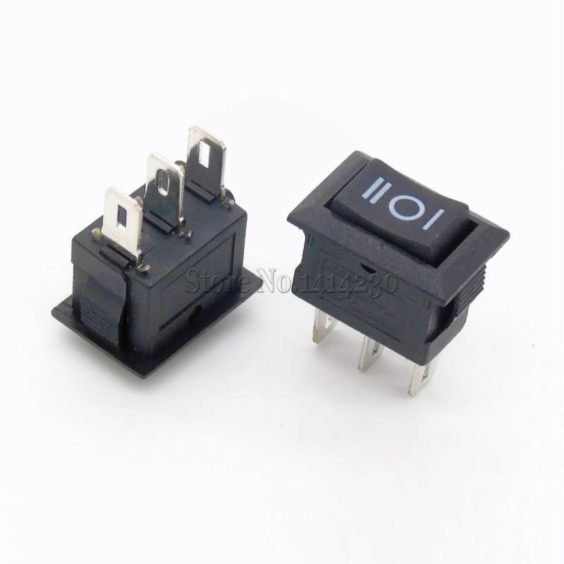 2pcs 3Pin ON-OFF-ON 3 Position Snap Boat Car Rocker Switch 3A//250V 10A AC