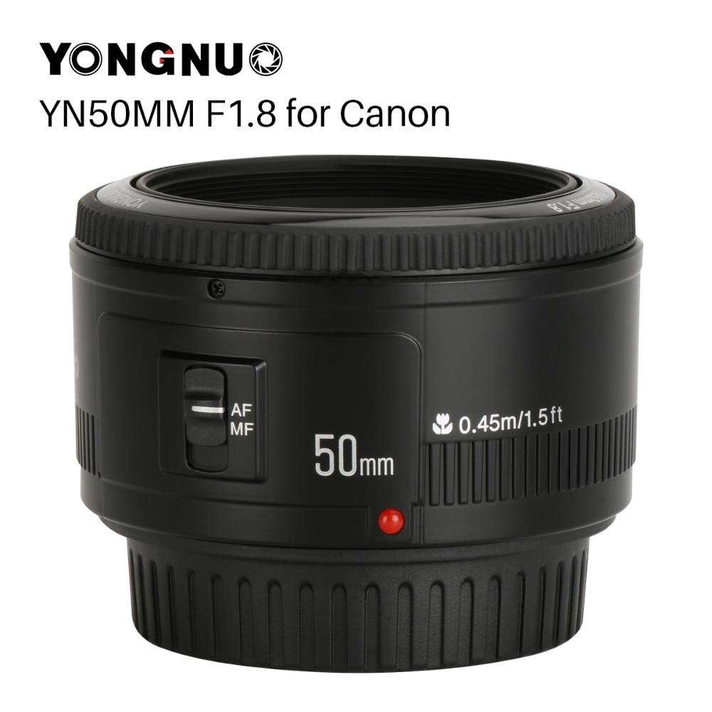 YONGNUO YN50mm YN50 F1.8 EF Lente Da Câmera Para Canon Rebel EOS 50 MM AF MF T6 EOS 700D 750D 800D 5D Mark II IV 10D 1300D