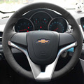 Steering Wheel Leather Covers Case for Chevrolet  Cruze Trax Tracker Aveo Sail Genuine Leather DIY Hand-stitched Car Styling