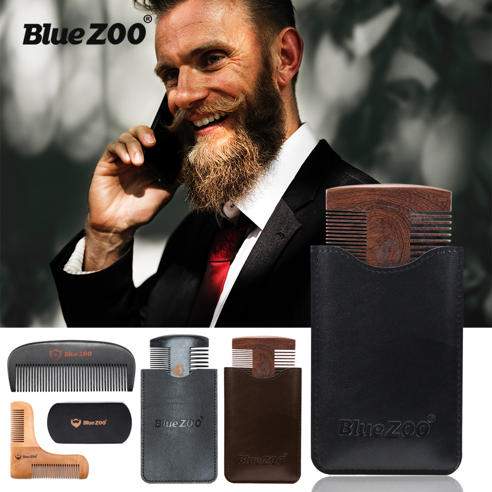 Beard Shaping Styling Template Beard Comb Sandalwood Men Shaving Tools Comb For Hair Beard Trim Template Combs NEW ARRIVAL