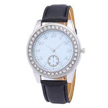 Fashion Girls Bracelet Watch Women Rhinestone Quartz Watches Fashion PU Leather Band Analog Relogio Feminino Gift Dress Clock