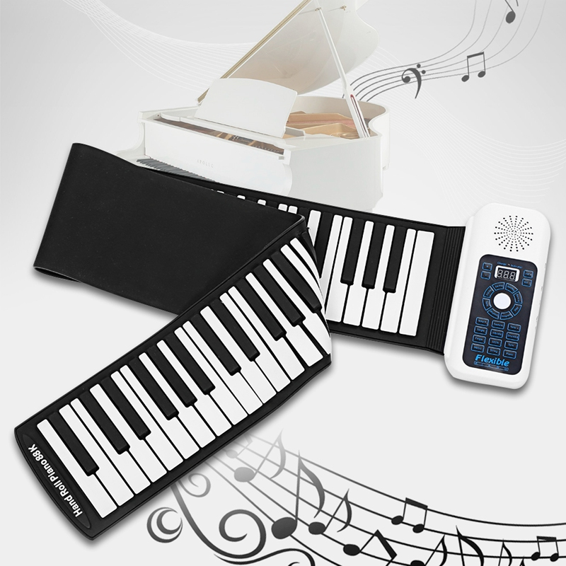 New 88 Keys Universal Flexible Roll Up Soft Keyboard Piano for guitar playersNew 88 Keys Universal Flexible Roll Up Soft Keyboard Piano for guitar players