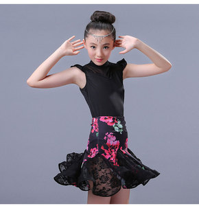 Image 2 - Conjunto de 2 uds. De vestido de Danza Latina para chicas, vestido de baile de salón, traje para competencia de baile chico s chico trajes de baile