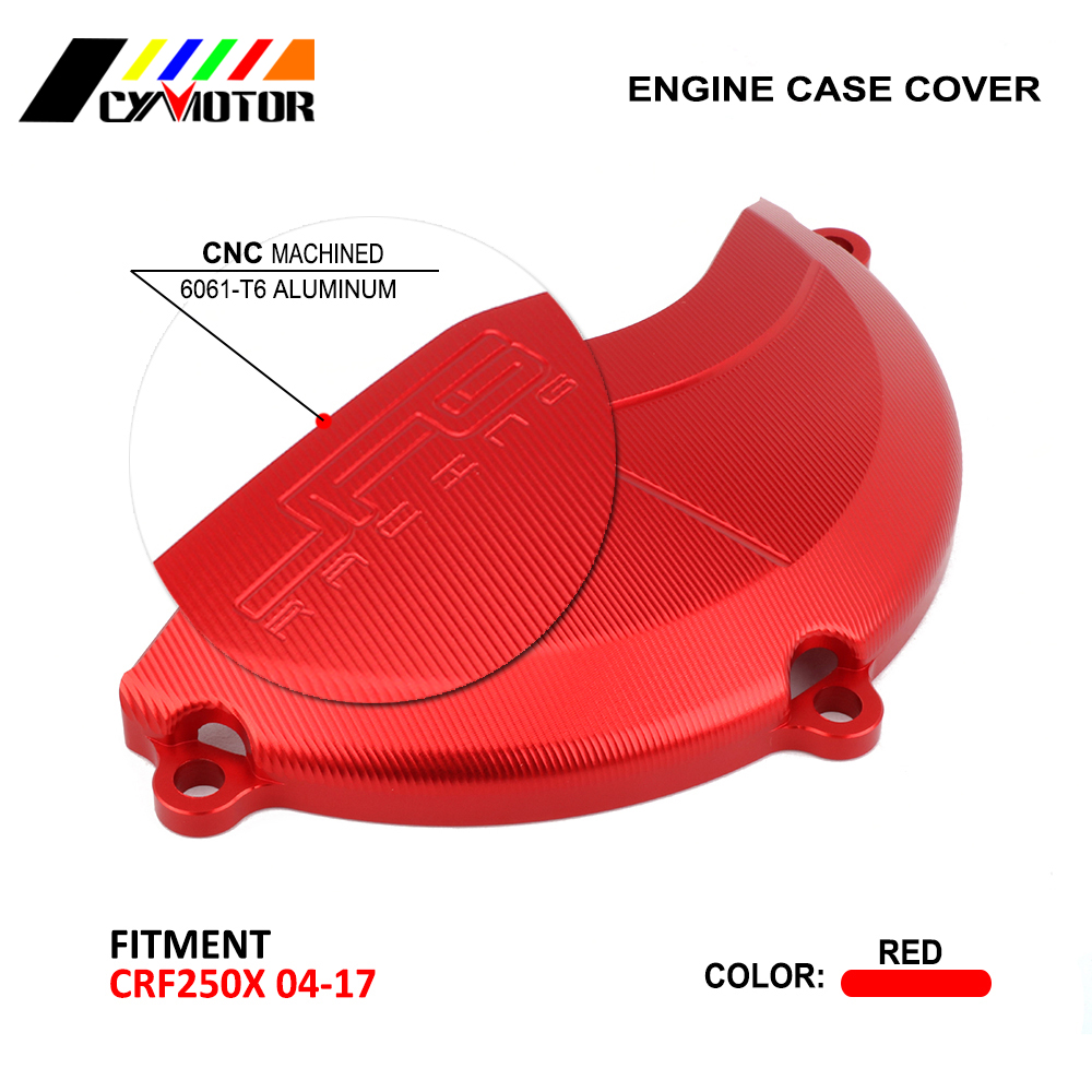 Motorcycle Side Engine Case Cover Protector Guard For HONDA CRF250X CRF 250X 2004 2005 2006 2007 2008 09 10 11 12 13 14 15 16 17 for honda crf 250r 450r 2004 2006 crf 250x 450x 2004 2015 red motorcycle dirt bike off road cnc pivot brake clutch lever