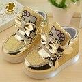 Children Shoes Для Мальчики Девочки Спортивные Кроссовки Shoes Baby Flashing Lights Мода Кроссовки Малышей Маленькие Дети СВЕТОДИОДНЫЕ Светящиеся Кроссовки