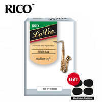 RICO La Voz Tenor Sax Reeds / Saxophone Tenor Bb Reeds, Strength Medium-Soft / Medium, 10-pack