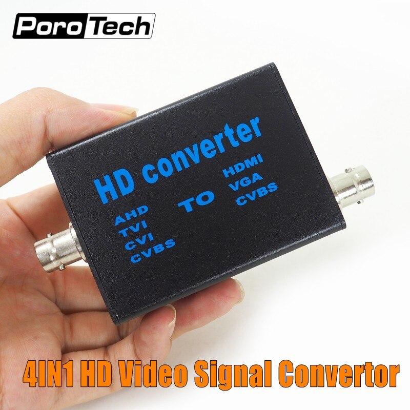 Прямая продажа с фабрики 4 в 1 видео высокой четкости сигнальный преобразователь AHD41, AHD/TVI/CVI/CVBS сигнал к HDMI/VGA/CVBS сигнал конвертер