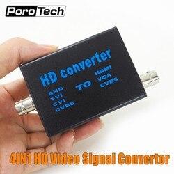 Conversor de señal de vídeo de alta definición 4 en 1 directo de fábrica AHD41, AHD/TVI/CVI/CVBS señal a HDMI/VGA/CVBS