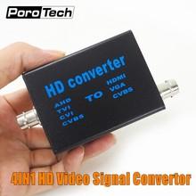 Convertisseur de signal vidéo haute définition 4 en 1, Direct usine, signal AHD41, AHD/TVI/CVI/CVBS vers HDMI/VGA/CVBS