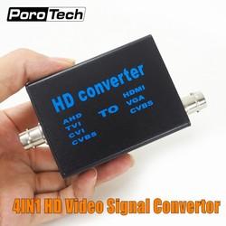 Fabrik Direkt 4-in-1 high definition video signal konverter AHD41, AHD/TVI/CVI/CVBS signal zu HDMI/VGA/CVBS signal konverter