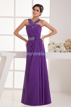 free shipping 2013 formal dress long new design hot sale albanian brides maid dress beaing halter chiffon purple evening Dresses free shipping 2013 new designer gown chiffon lovely dress evening formal dress brides maid dress short yellow bridesmaid dresses
