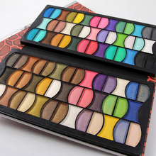 Fashion Leopard PU Leather Popular 82 Colors Eyeshadow Pallete Women Cosmetic Case Full Shimmer Makeup Palette Money Clip Design