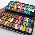 Leopardo de la manera de LA PU de Cuero Popular de 82 Colores Paleta de Sombra de ojos Shimmer Maquillaje Cosmético Caja Completa Paleta de Diseño del Clip Del Dinero
