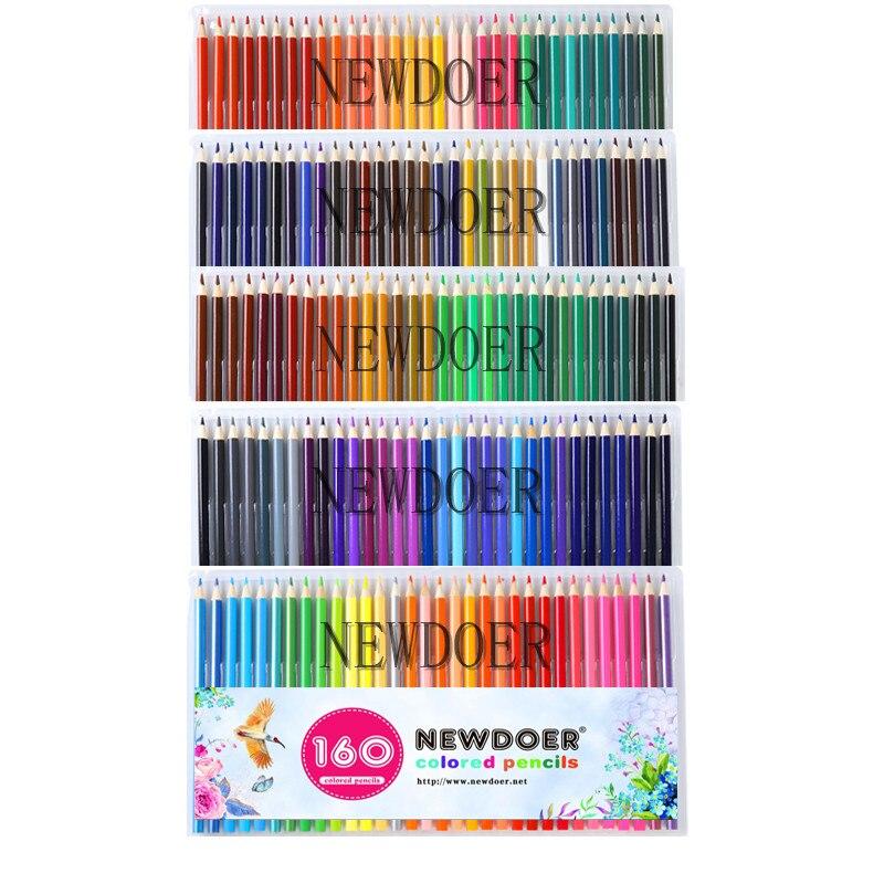 NEWDOER 160 différents crayons De couleur Lapis De Cor professionnels artiste peinture crayon pour dessin croquis Art papeterie crayon
