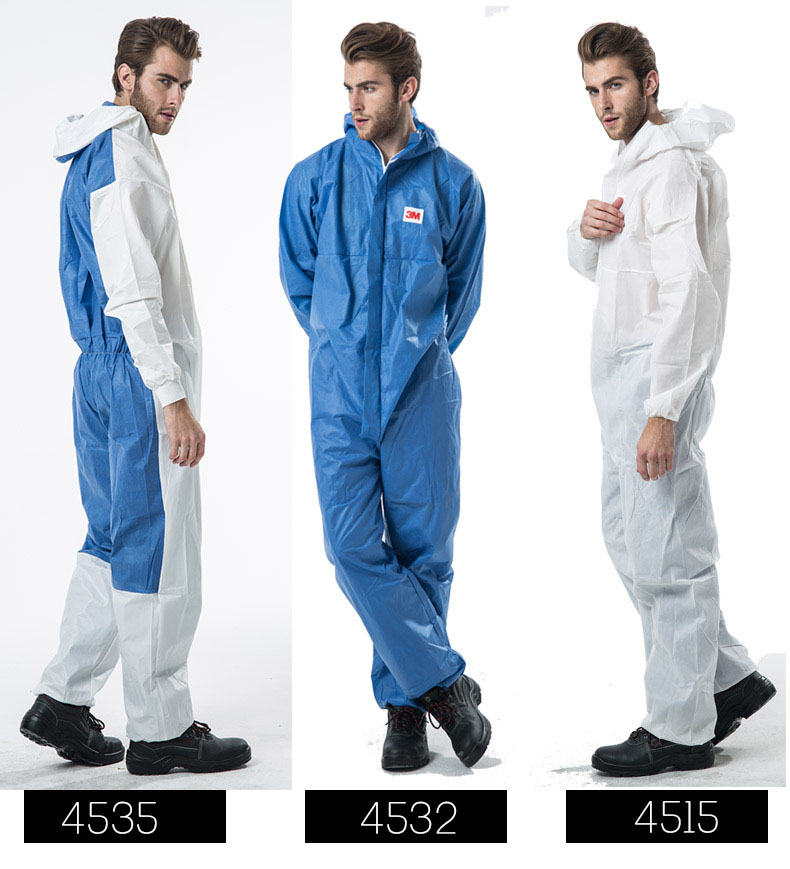3M Men Women Disposable Anti-static Coverall Hooded Cleanroom Garments Dust-proof Work clothing Paint Factory uniforms Overalls anti static clothing hooded dust proof coveralls cleanroom garments factory clean food paint work protective clothing unisex