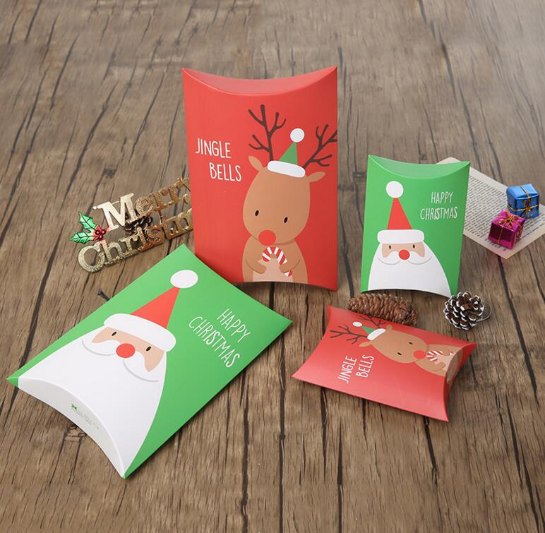 Two sizes merry christmas party paper box kids gift bags for Application box decoration