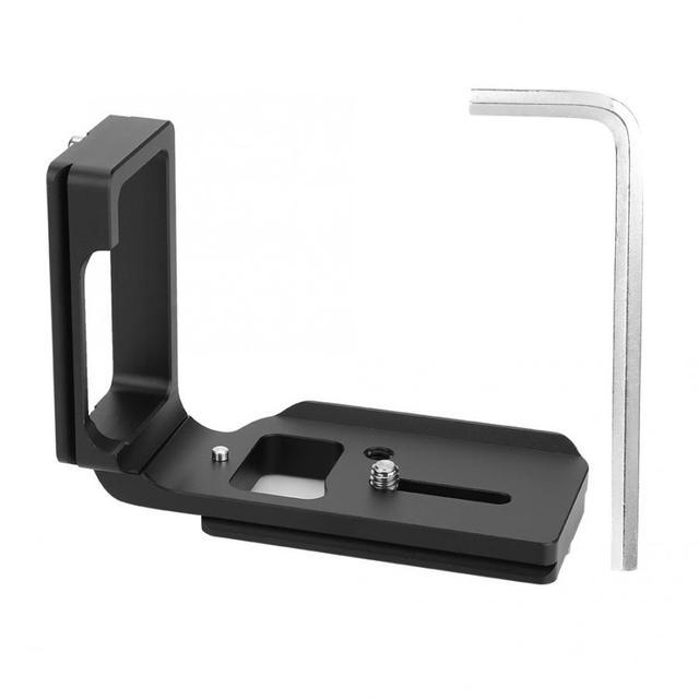 Liberação rápida qr l placa tripé suporte para nikon d750 câmera arca padrão plataforma tripé l suporte alça vertical