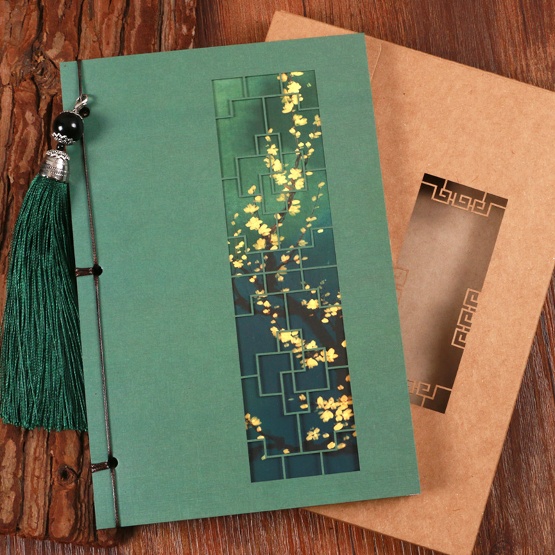 Handmade Cover For Book : Classic style beautiful hollow out cover wire bound