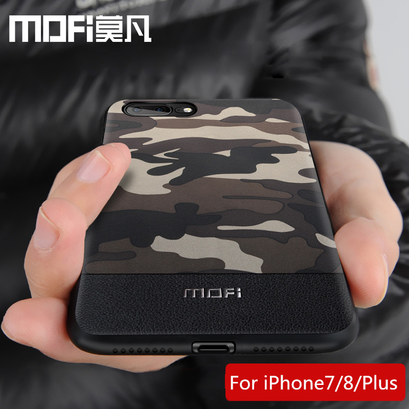for iPhone 8 case cover iPhone8 back cover Camouflage pattern shockproof protective cases capas MOFi original 7 8 plus case|Fitted Cases| |  -