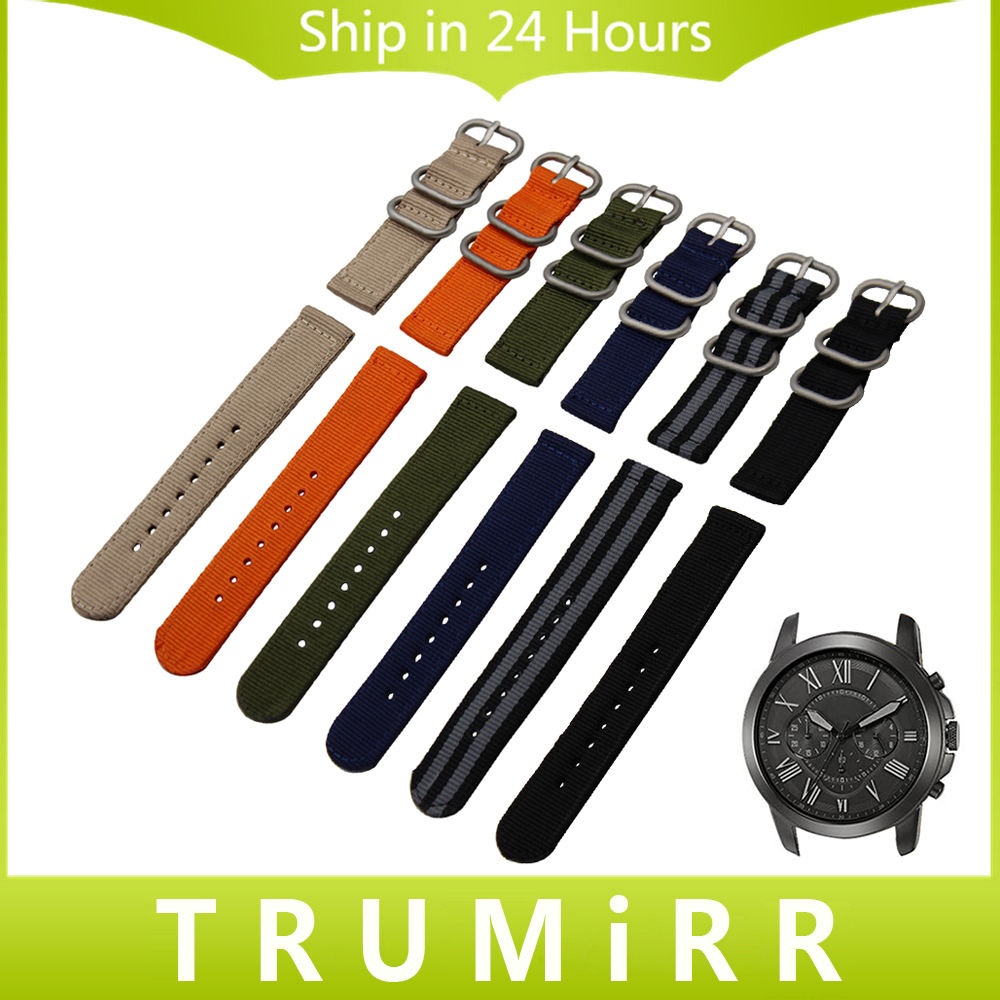 Nylon Watchband Zulu Strap for Fossil Q Tailor Gazer Founder Wander Crewmaster Grant Marshal Nate Watch Band Wrist Belt Bracelet 24mm nylon watchband for suunto traverse watch band zulu strap fabric wrist belt bracelet black blue brown tool spring bars
