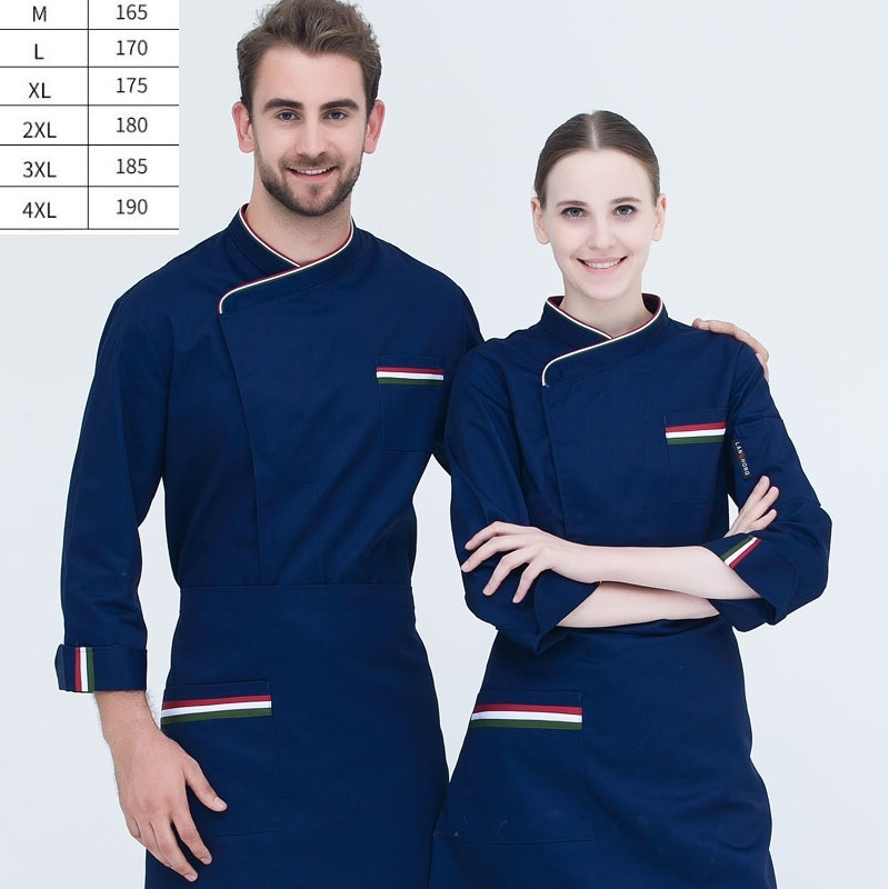 10pc S Hotel Restaurant Chef Cake Shop Bakers Restaurant Kitchen Chef Uniforms And Work Clothes With Long Sleeves For Men