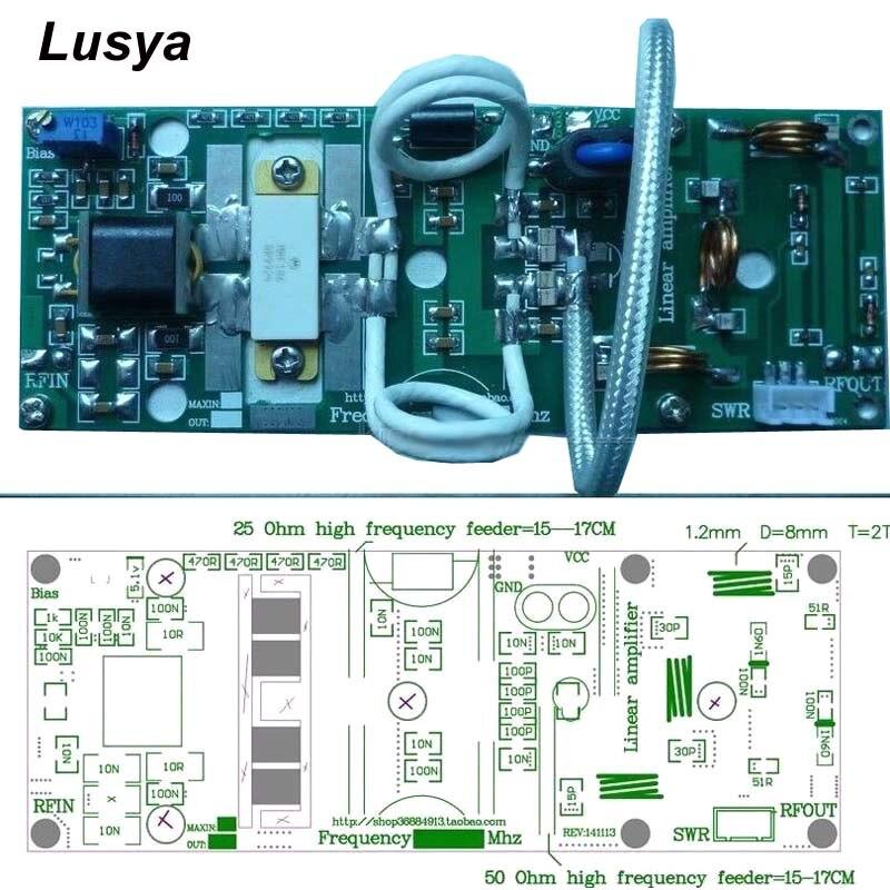 100 W FM VHF 80 Mhz-170 Mhz RF amplificateur de puissance conseil AMP bricolage KITS pour jambon Radio bricolage Kits DC 24 v C4-001