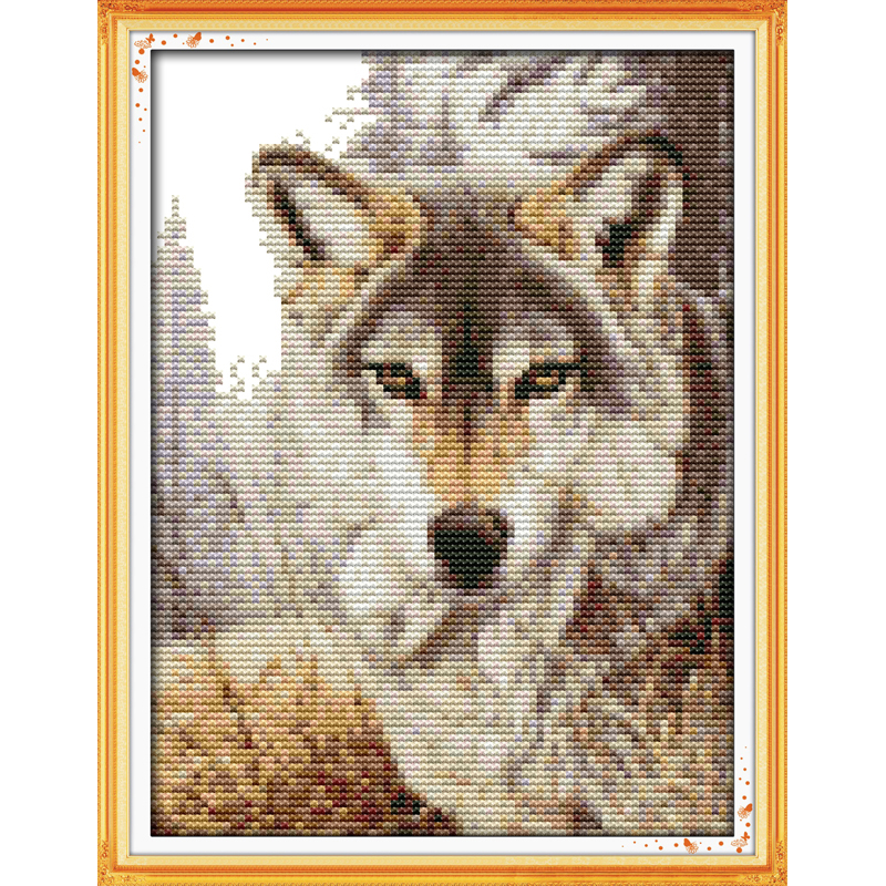 Everlasting love Christmas Wolf spirit (2) Chinese cross stitch kits Ecological cotton stamped 11 14CT New store sales promotion
