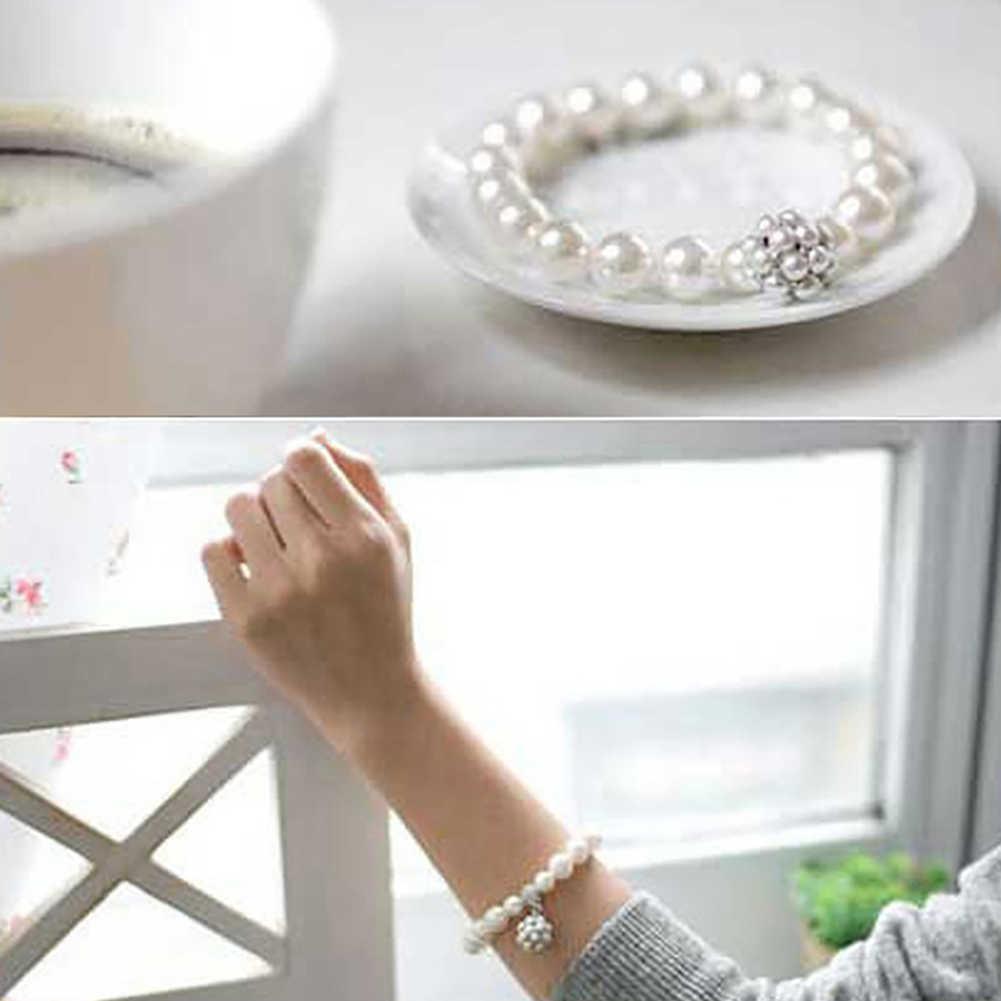 Новая мода Белый Искусственный Жемчуг Блестящий горный хрусталь Украшение на запястье женские ювелирные изделия свадебный браслет Браслет вечерние подарок