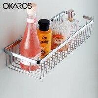 30cm 40cm Wall Mounted Single Tier Bathroom Shelf Shelves Shampoo Shelf Basket Storage Basket Rack SUS304