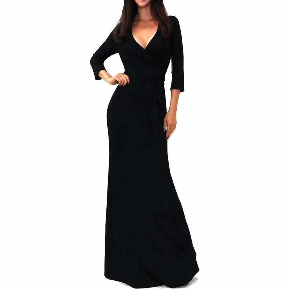 79314a940ab5c Detail Feedback Questions about Spring Elegant Ladies Long Party ...