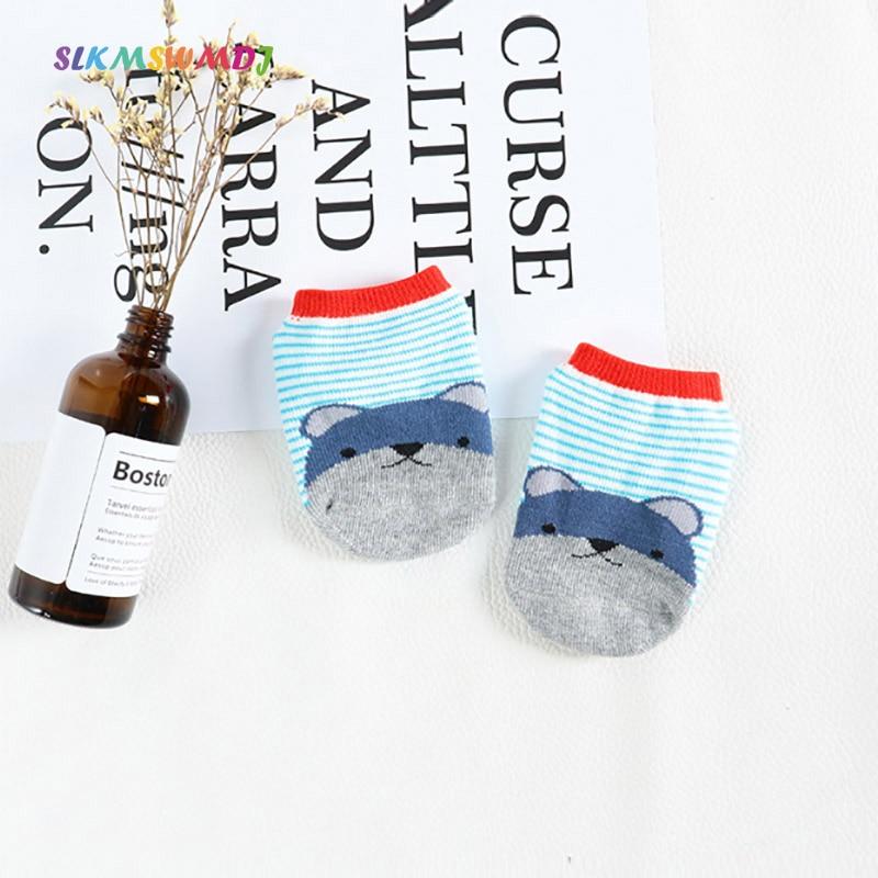 SLKMSWMDJ novo barco meias recém-nascidos do bebê das meninas dos meninos do bebê meias meias de algodão Barco dos desenhos animados Meias chão anti-skid para 0-4 anos de idade