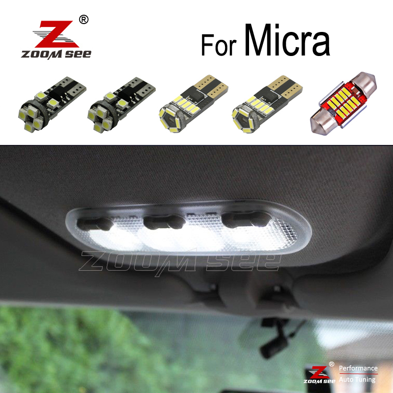 100% Perfect White Error Free LED Bulb Interior Dome Map Trunk Light Kit For Nissan Micra K11 K12 K13 K14 (1993-2019)