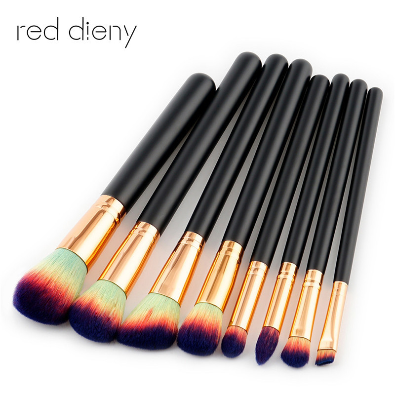 8 Pcs rofessional Makeup Brushes Tools Set Foundation Powder Bulsh Eyeshadow Eyeliner Lip Make Up Brush Maquiagem 8pcs beauty makeup brushes set eyeshadow blending brush powder foundation eyebrow lip cosmetic make up tools pincel maquiagem