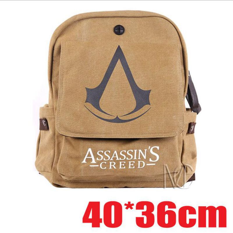 Assassin's Creed backpack assassin creed game logo backpack computer backpack Canvas Bag travel girls boys backpack pc assassin s creed unity guillotine edition