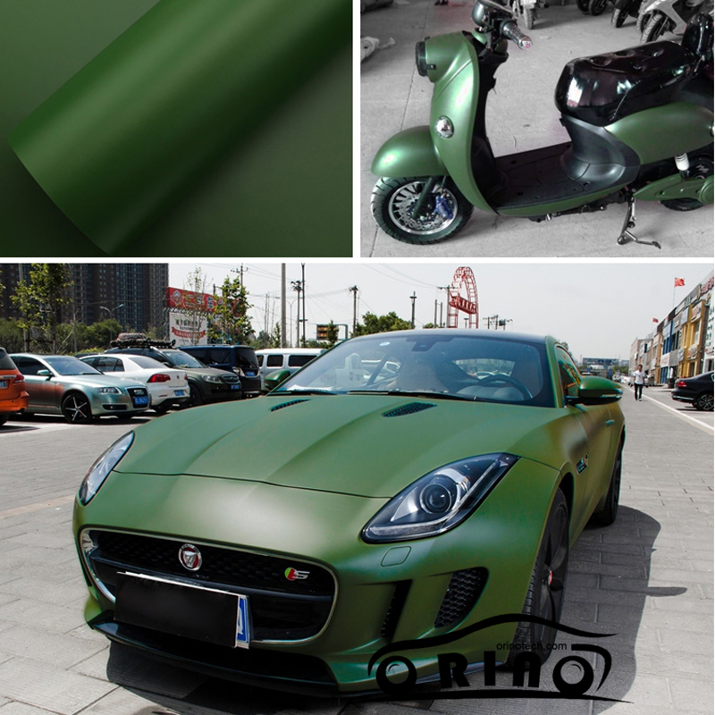 Adhesive Army Green Matte Vinyl Film Matt Car Wrap Vinyl