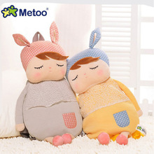 hot deal buy metoo plush backpacks kids baby bags animals cartoon doll toy children shoulder bag for kindergarten angela rabbit girl panda