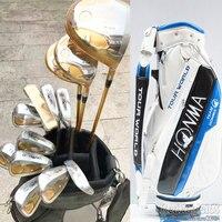 Новый гольф клубов Хонма S 05 4 звезды Compelete клуб набор Гольф водитель + фарватера древесины + утюги + сумка + клюшки Графит Гольф Вал Бесплатная