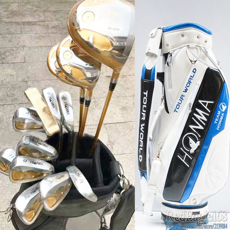 New Golf Clubs HONMA S-05 4 Star Compelete Club Set Golf Driver+Fairway Wood+irons+bag+putter Graphite Golf Shaft Free Shipping