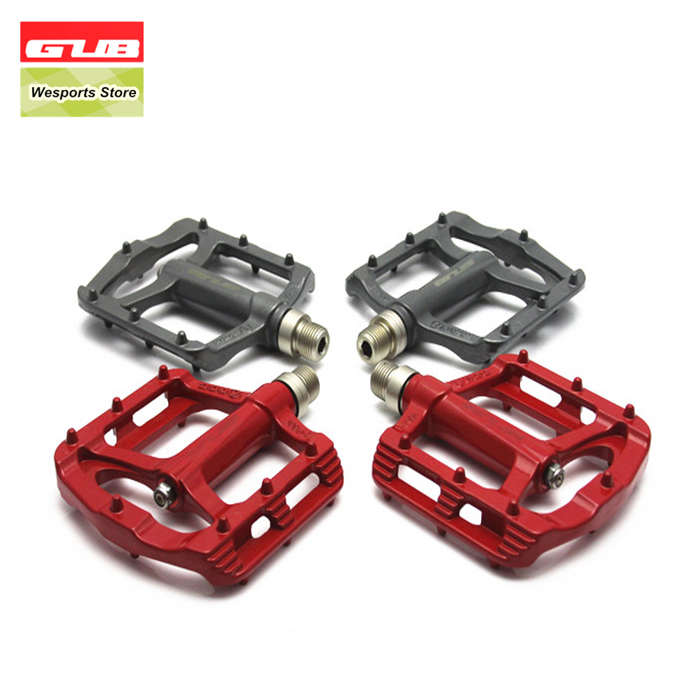GUB Ultralight Aluminum Alloy Bearing Pedals 1 Pair 4 Colors Mountain Road Bike MTB Pedal Bicycle Parts 13pcs lot er11 1mm 7mm beating 0 015mm precision spring collet for cnc milling lathe tool and spindle motor