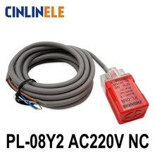 PL-08Y2 8mm sensing AC 2-WIRE NC Cube shell inductive Screen shield type proximity switch LP08 proximity sensor 17*17*35