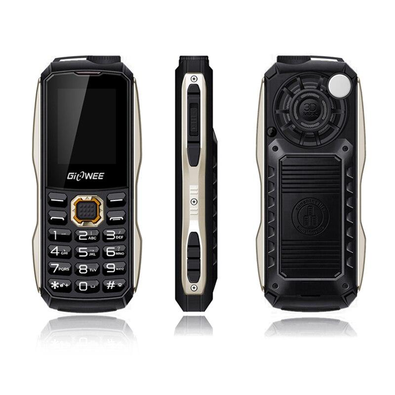 FAMAN Shockproof Dual SIM Cards Mobile Phone FM Radio Mp3 Flashlight 3800 MAh Power Bank Outdoor Double Light Cellphone P443