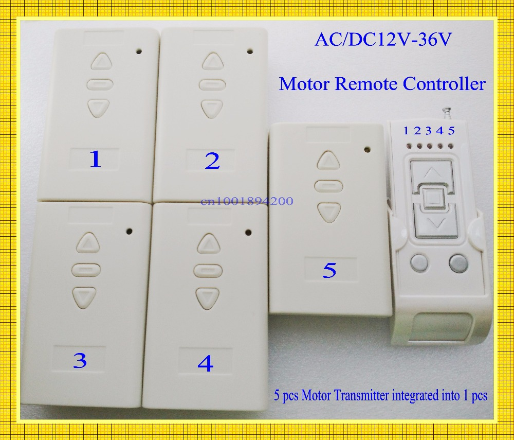 Multiple Motor Remote Controller AC/DC 12V 24V 36V 5 Motor Forwards Reverse Stop 5Motor Work Separate Independent  Limit SwitchMultiple Motor Remote Controller AC/DC 12V 24V 36V 5 Motor Forwards Reverse Stop 5Motor Work Separate Independent  Limit Switch