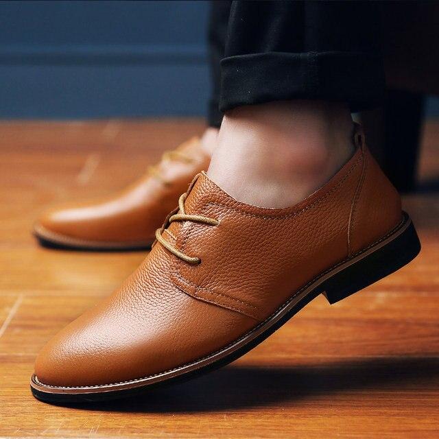 168bd9749d68 TOURSH 2018 NEW ARRIVAL Luxury Genuine Leather Men Shoes Brogue Lace Up  Platform Fashion Oxfords Man Black Friday Deals Fashions