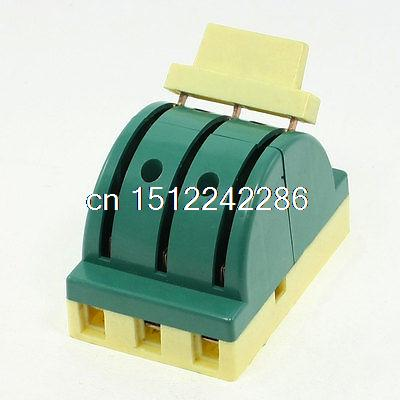 AC 380V 32A 3P Double-sided Circuit Control Knife Disconnect Switch Green