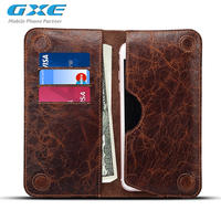 5 5 Universal Genuine Leather Flip Mobile Phone Wallet Pouch For Galaxy S8 Plus S7 Edge