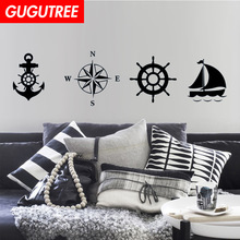 Decorate boat anchor compass art wall sticker decoration Decals mural painting Removable Decor Wallpaper LF-105
