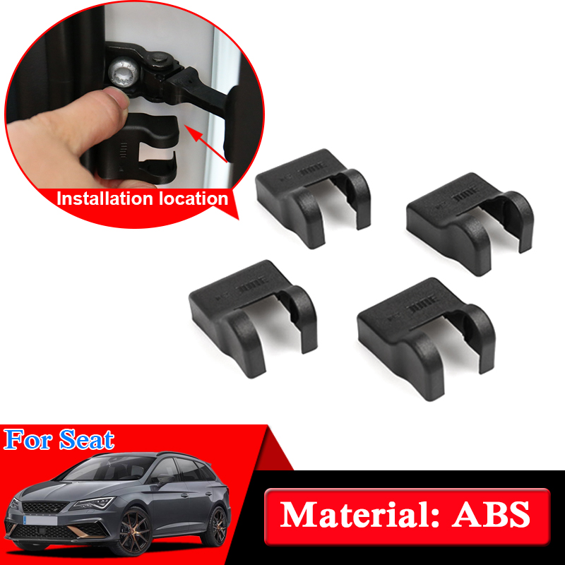 Car Styling Door Check Arm Protection Cover For Seat Leon Teledo Ibiza MII Exeo Arona Ateca Car Door Lock Protective Cover