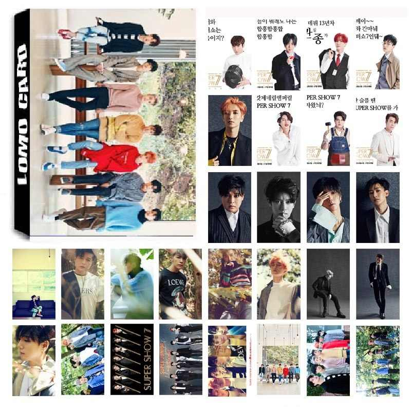 New 30Pcs/set KPOP SUPER JUNIOR SJ01 PLAY Album HD Photo Card PVC Cards Self Made LOMO Card Photocard
