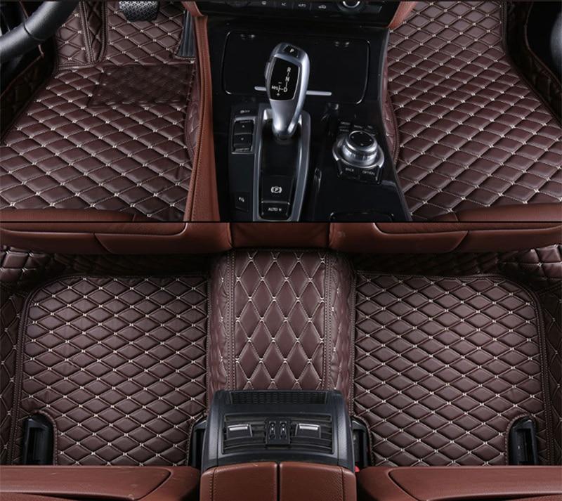 5 Colors Car Floor Mats Front & Rear Liner Waterproof Mat For Honda City 2017 2016 2015 Car Accessorie Carpet customs 5 seats 1 set car floor mat leather waterproof front